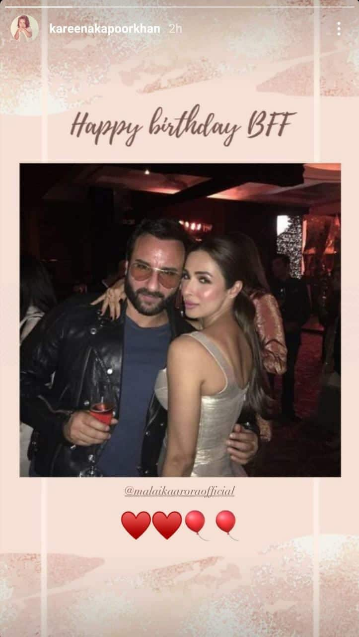 Arjun Kapoor And Kareena Kapoor Khan Shower Birthday Girl Malaika Arora With Lovely Wishes; Take A Look