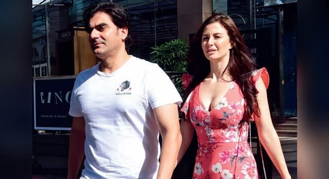 Arbaaz Khan Shares A Hilariously Awkward Moment With Girlfriend Giorgia Andriani In Front Of His Son And Paparazzi