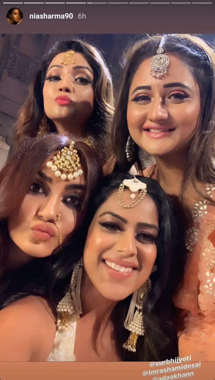 Naagin 4: Rashami Desai, Nia Sharma, Adaa Khan And Surbhi Jyoti Have A Blast While Shooting The Finale
