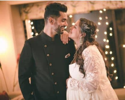 Neha Dhupia And Angad Bedi Shares The First Picture Of Baby Girl And Reveals The Name