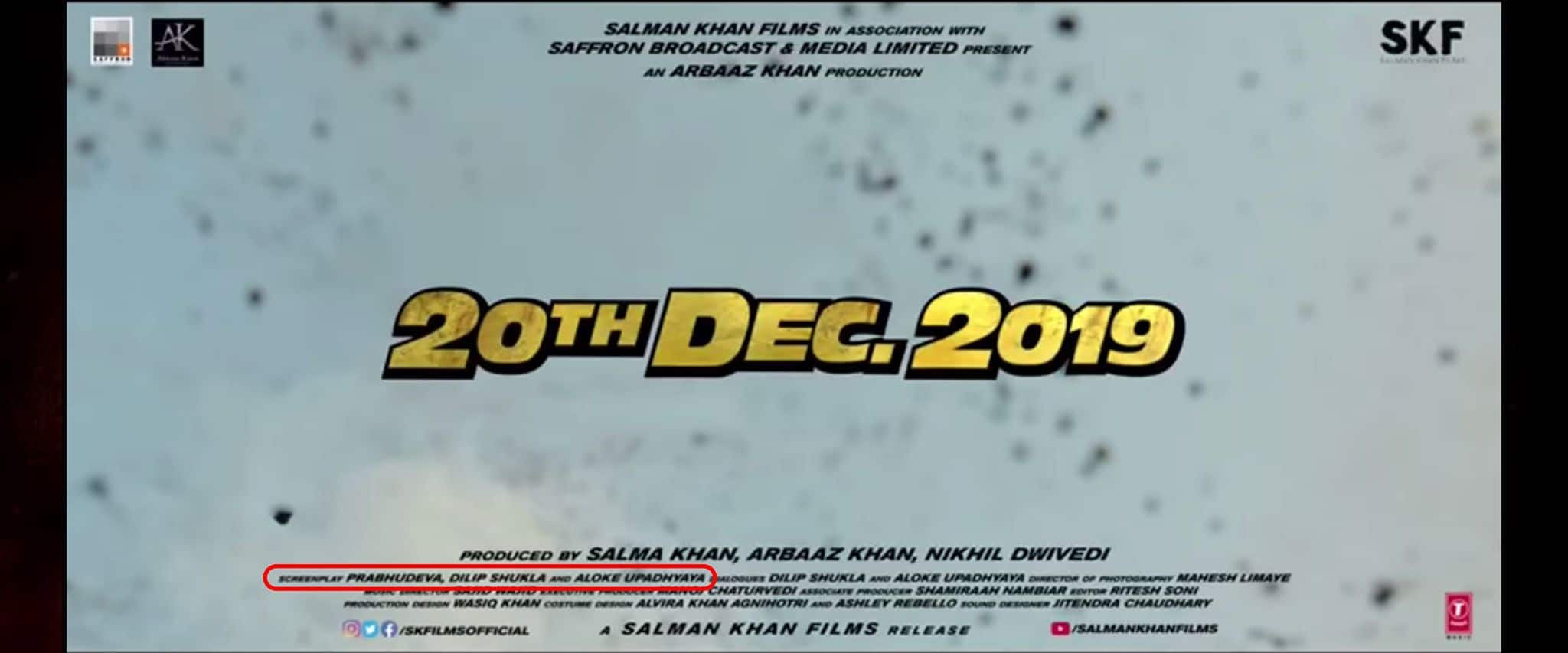 Dabangg 3 Adds Salman Khan's Name To Screenplay Credits And Drops Dilip Shukla's Name In The Trailer