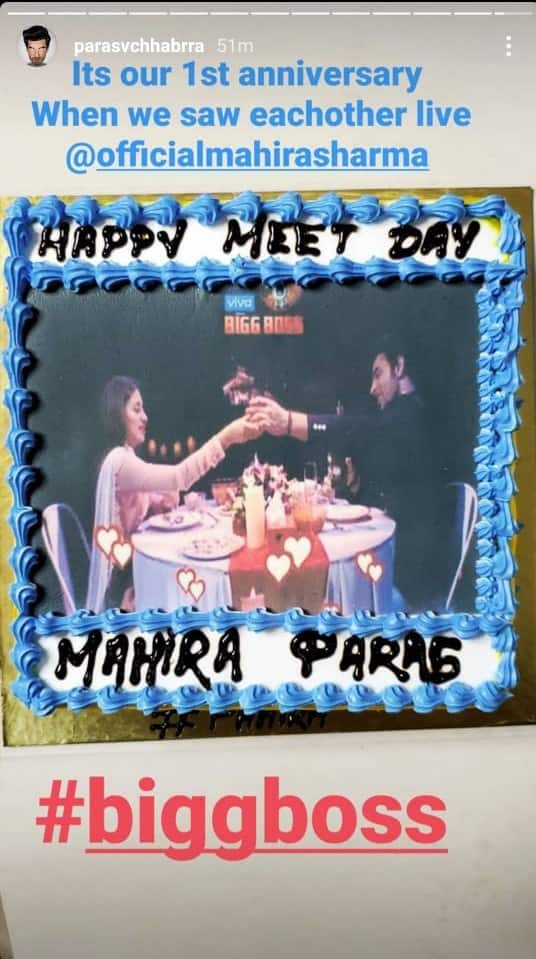 Bigg Boss 13's Paras Chhabra-Mahira Sharma Celebrate One Year Of The First Time They Met On The Reality Show