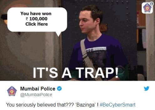 Mumbai Police Knows That The Best Way To Educate Is Through Bollywood And Memes