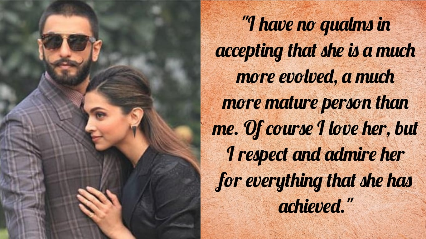 5 Statements By Ranveer Singh That Proves That He Is The Gold Standard In Modern Husbands