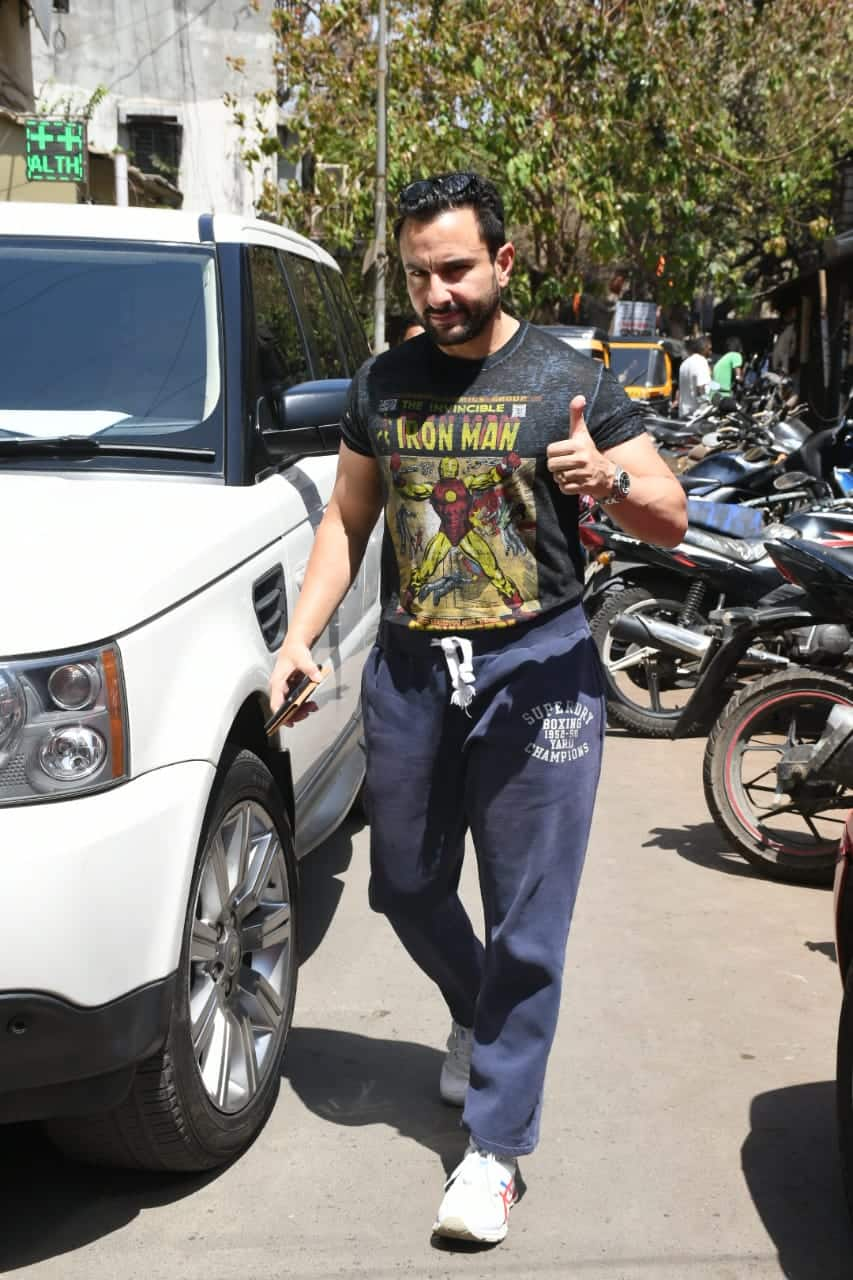 Saif Ali Khan's Cool Gym Attire Is Perfect For Every Marvel Fan Out There; Get The Look