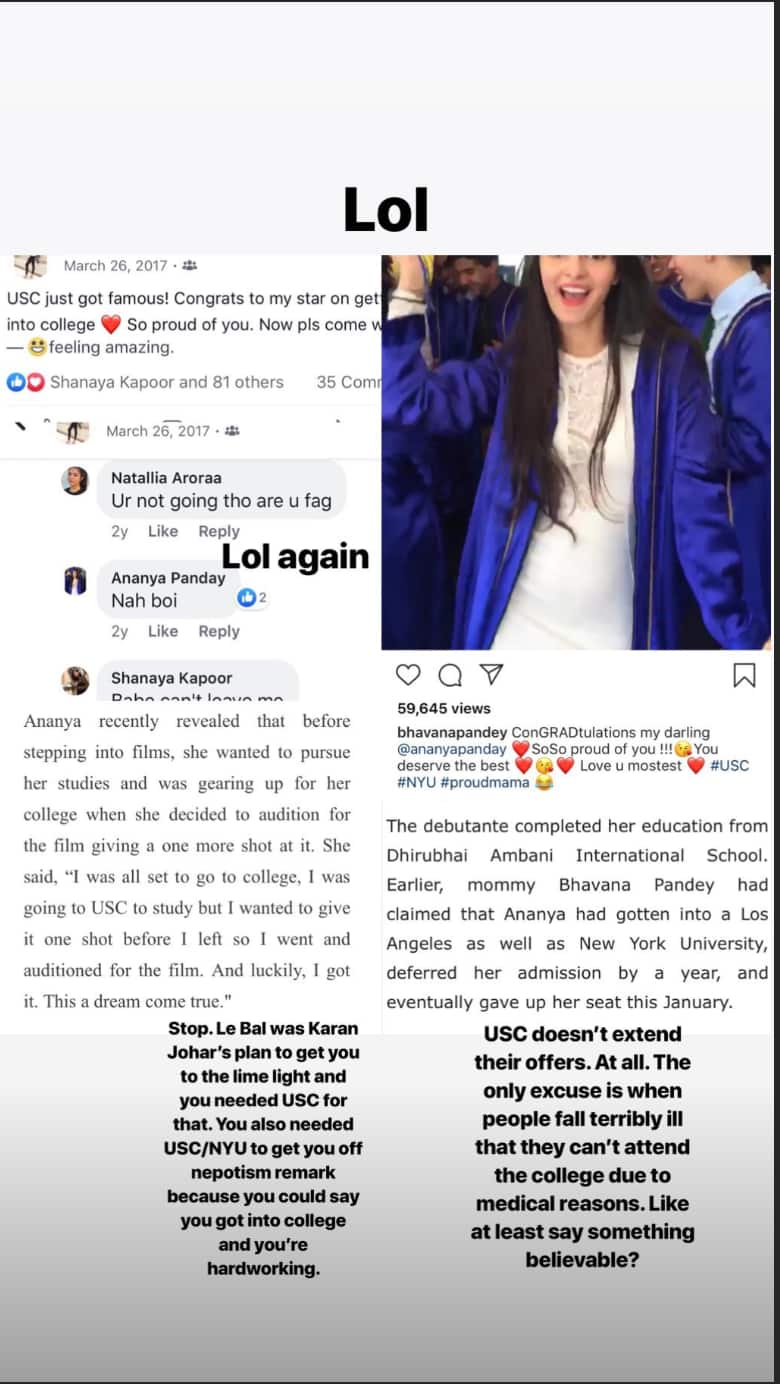 Ananya Pandey's Schoolmate Exposes Her Multiple Relationships on Twitter; Says She Used People To Get To Where She Is!