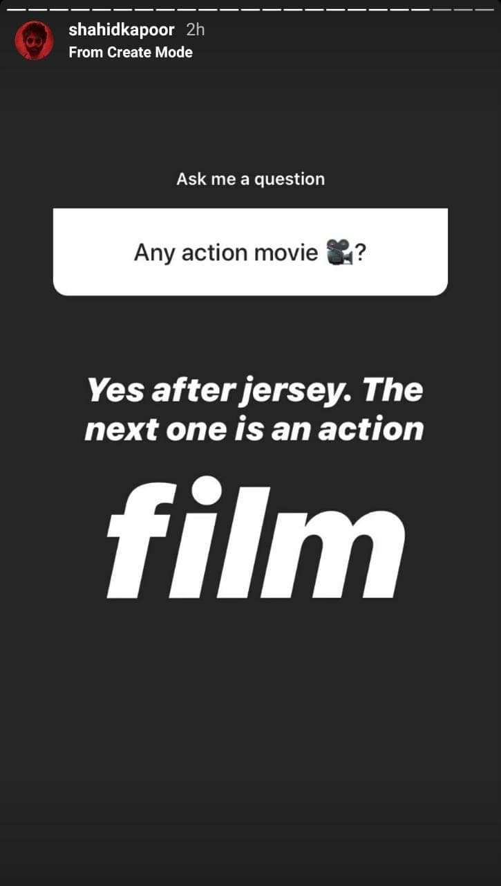 Shahid Kapoor Reveals What His Next Project After Jersey Will Be; Take A Look