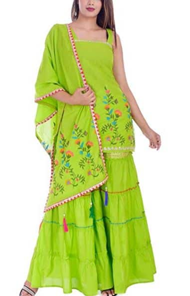 Sara Ali Khan Green Sharara Look Is Perfect For Your Festive Look