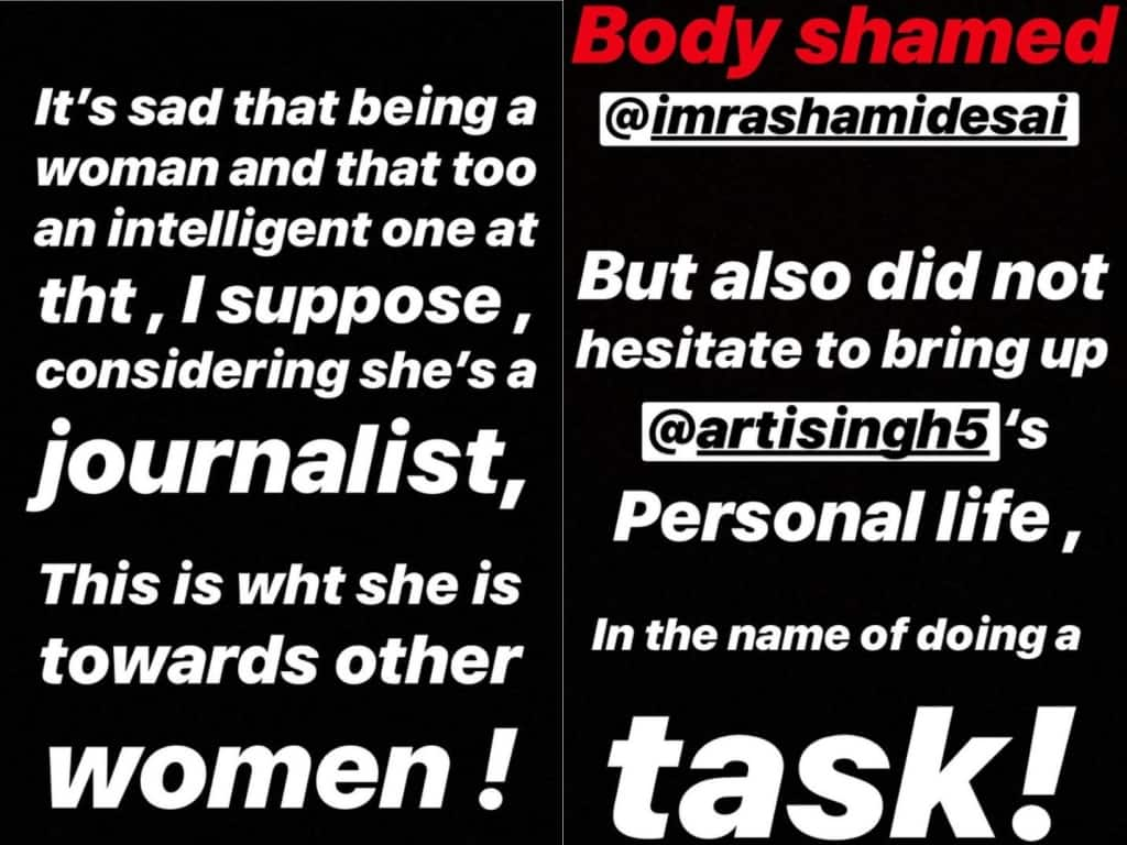 Bigg Boss 13: Zareen Khan Joins The Shefali Bagga Hate Club, Slams Her For Body Shamming Rashami Desai For A Task