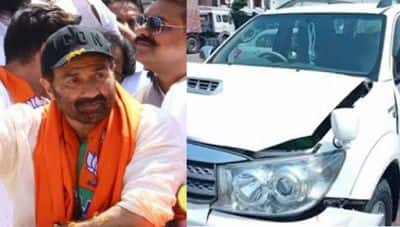 Sunny Deol Meets With An Accident At The Gurdaspur National Highway