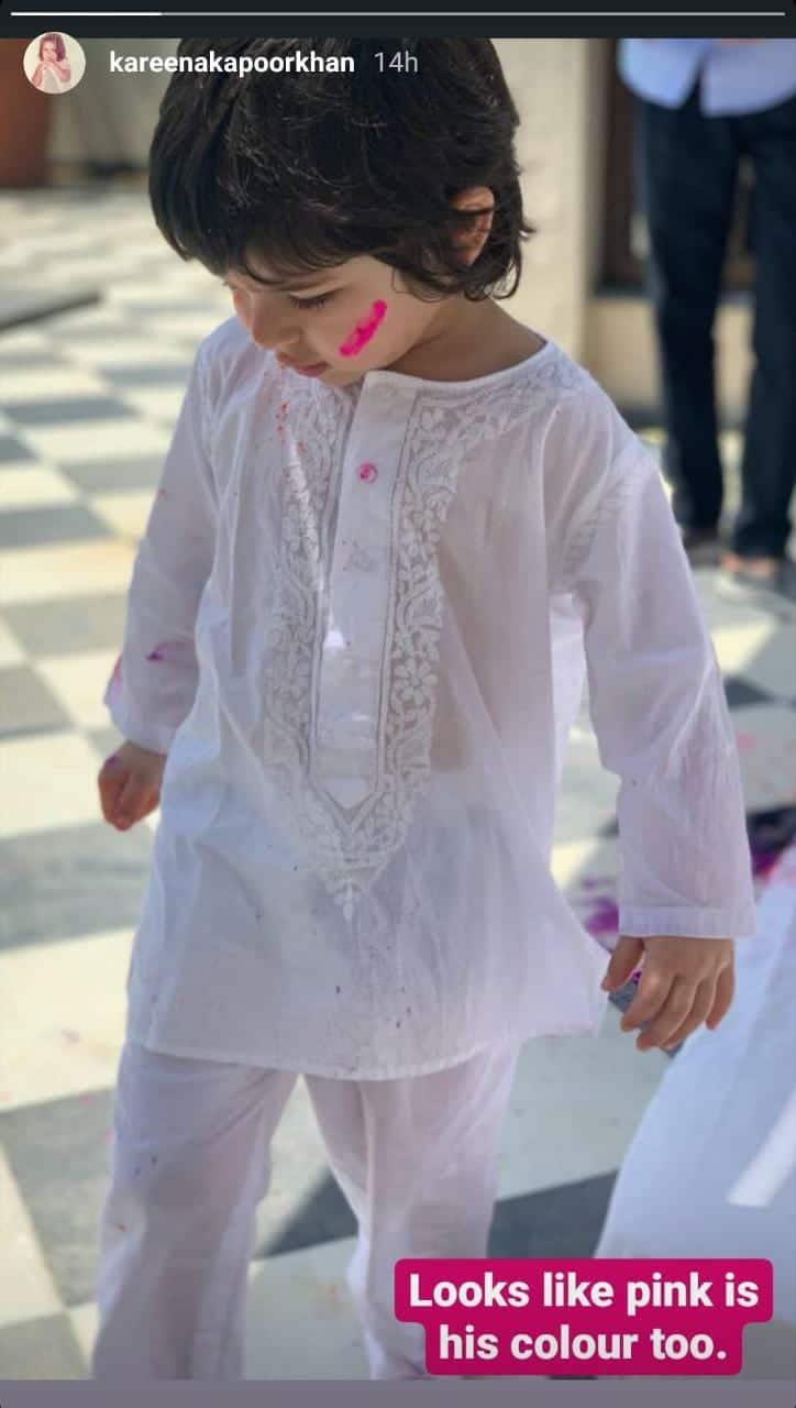 Taimur Is Following In Mommy Kareena Kapoor Khan's Footsteps; These Pics From Holi Are Proof