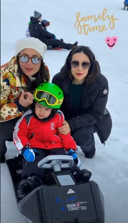 Taimur Ali Khan Looks Cute As A Button As He Vacays With Parents Kareena Kapoor And Saif Ali Khan In Switzerland