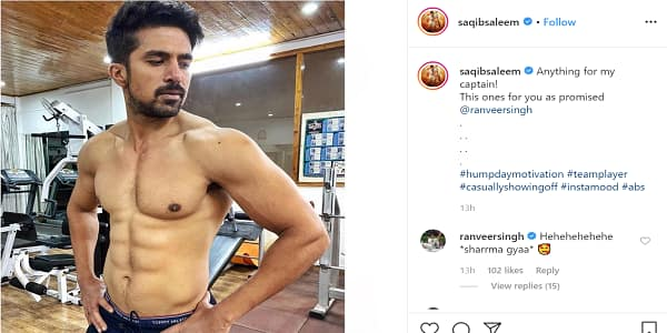 Saquib Saleem Keeps His Promise To Ranveer Singh By Posting A Shirtless Picture, The 83 Captain Has A Hilarious Response