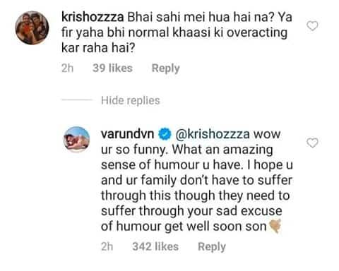 Troll Wanted To Confirm If Varun Dhawan Really Contacted Covid-19, Actor's Savage Response Was Certainly Befitting