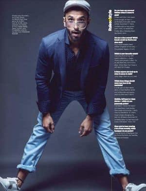 Ranveer Singh Keeps It Classy on Man Magazine's Cover