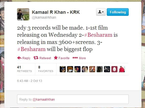 What Twitter Has To Say About Besharam
