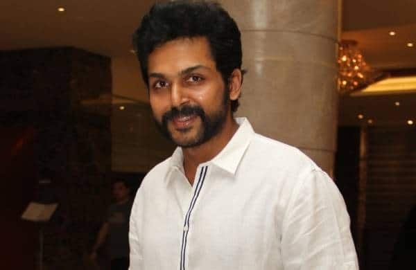 Karthi comes with a moustache look for Komban