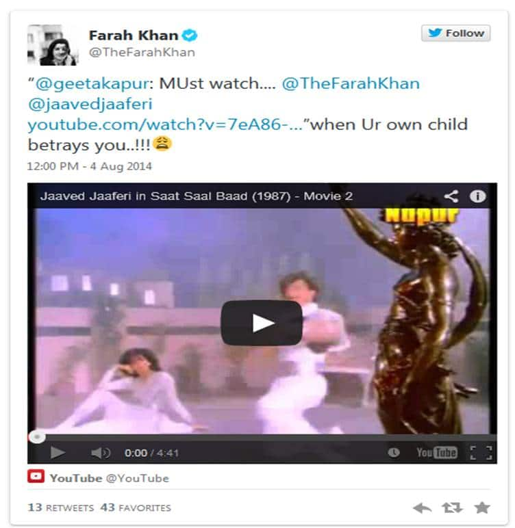 Video Of The Day - Farah Khan & Javed Jaffery's Blast From The Past!