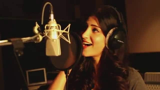 Shruti to sing a peppy number for Aagadu!