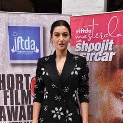 Gauahar Khan Wins The Best Actress Award For Her Short Film Peanut Butter At The IFTDA  Awards
