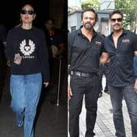 Spotted: Ajay Devgn Launches Tanhaji Trailer WIth Rohit Shetty And Saif Ali Khan, Alia Bhatt Spotted At SLB's Office!