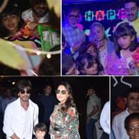 तस्वीरें: अराध्या के जन्मदिन पर शाहरुख खान से लेकर करण जौहर अपने बच्चों के साथ पार्टी में पहुंचे