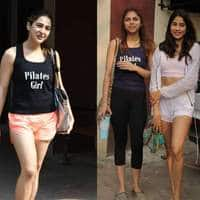 Spotted: Sara Ali Khan And Janhvi Sizzle In Gymwear, Kartik Aaryan Clicks Pictures With Fans!