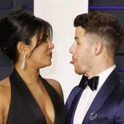 Nick Jonas Sticks His Tongue Out At Priyanka Chopra As They Attend Vanity Fair Oscars After-Party