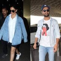 Spotted: Deepika, Vicky Slay At The Airport