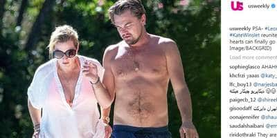 Titanic Co-Stars, Leonardo DiCaprio And Kate Winslet Have A Poolside Reunion!