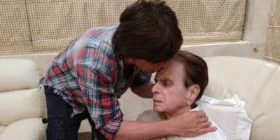 Shah Rukh Khan visits Dilip Kumar and their pics together will warm your heart