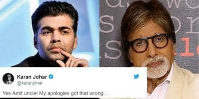 Here's How Amitabh Bachchan Scolded Karan Johar For Getting His Fact Wrong!