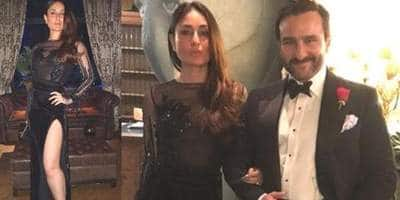 Kareena Kapoor Khan Shows Off Her Killer Body In A Black Thigh-High Slit Gown For New Year's Celebration!