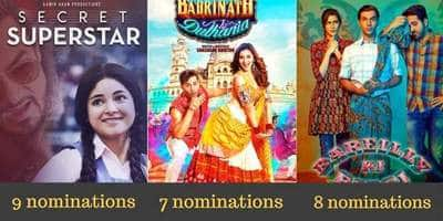 Filmfare Awards 2018 Nominations: Secret Superstar Leads With 9 Nominations