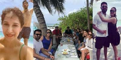 These Pictures Of Indian Cricketers Vacaying With Their Family Is A Delight For All Cricket And Bollywood Lovers!