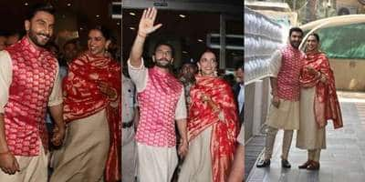IN PICTURES: Deepika And Ranveer Singh Melt Our Heart As They Reach Mumbai Post Their Wedding