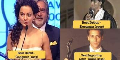 This Is How These 20 A - List Bollywood Stars Looked When They Won Their First Award