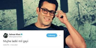 "Salman Khan Just Announced On Twitter ""Mujhe Ladki Mil Gayi"" And Here Are 5 Things That He Could Mean"