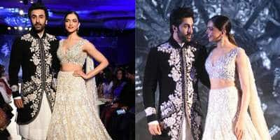 In Pictures: Ranbir Kapoor And Deepika Padukone At The Mijwan Fashion Week