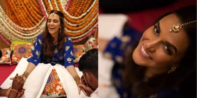 Check Out These Unseen Pictures From Neha Dhupia's Mehendi Ceremony!
