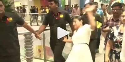 Kajol Slips At A Public Appearance In A Mall And The Video Is Now Viral On The Internet!