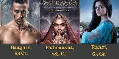 14 Bollywood Movies Of 2018 With Highest Overseas Box Office Collections