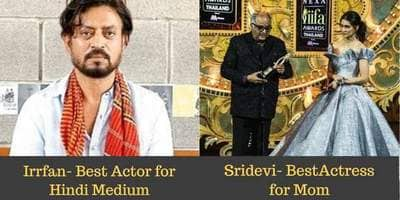 Irrfan Khan Wins Best Actor, Sridevi Wins Best Actress At IIFA 2018, See The Full List Of Winners
