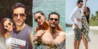 Pictures: Are Neha Dhupia And Angad Bedi Honeymooning In Maldives?