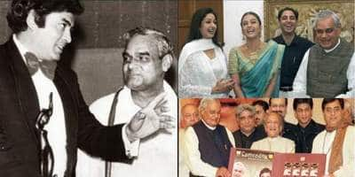 Few Moments That Former PM Atal Bihari Vajpayee Shared With Bollywood