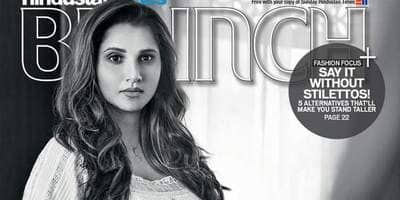 Check Out! Seven Months Pregnant Sania Mirza Looks Swell On The Cover Of HT Brunch!