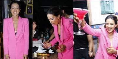 Nia Sharma Looks Super Hot In Pink As She Rings In Her 28th Birthday With Friends