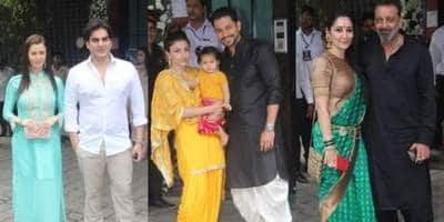Bollywood Celebs Gather At Arpita Khan Sharma's House To Celebrate Ganesh Chaturthi!