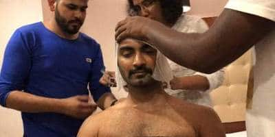 Atharvaa Gets His Head Tonsured For Boomerang