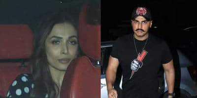 Malaika Arora, Arjun Kapoor Twin In Black As They Attend A Party Together.